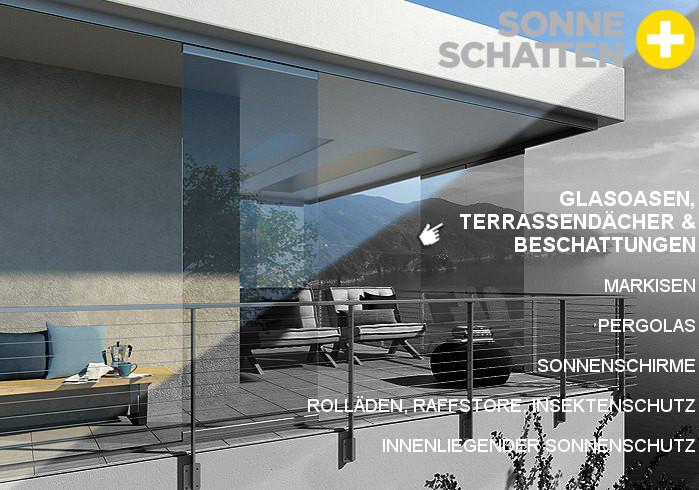 Glasoasen, Terrassendächer & Beschattungen
